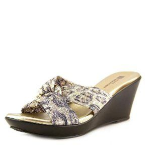 WHITE MOUNTAIN Reach Women 8.5 Bronze Wedge Sandal